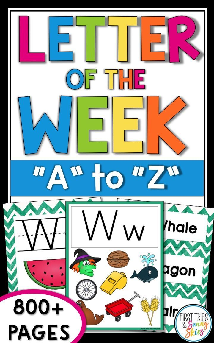 Letter Of The Week Curriculum This 800 Page Letter Of The Week Bundle Is Perfect For The Preschool An Letter Of The Week Letter Of The Day Hooked On Phonics