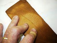 Couteaux faits main....: Faire un étui