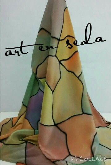 Art in Seda~hand painted silk scarf
