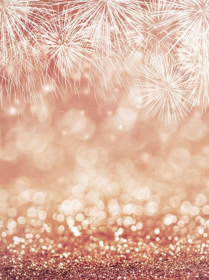 Bokeh Fireworks Background Rose Gold Printed Backdrop