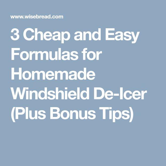 3 Cheap and Easy Formulas for Homemade Windshield De-Icer (Plus Bonus Tips)