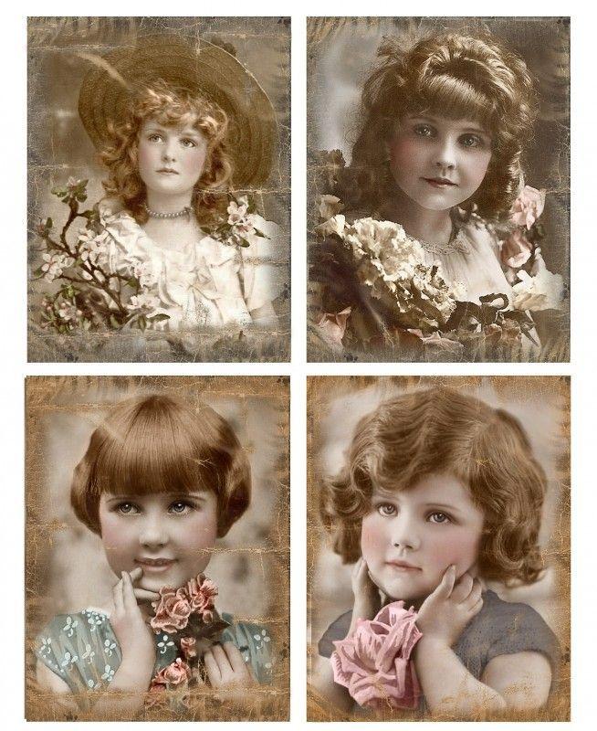Vier meisjes Brocante