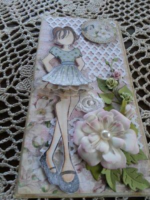 Papierowo zakręcona    : lalka Julie Nutting ipiankowe kwiatki