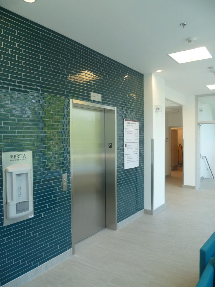 Elevator and Brita Water Bottle Filling Station (in wall)