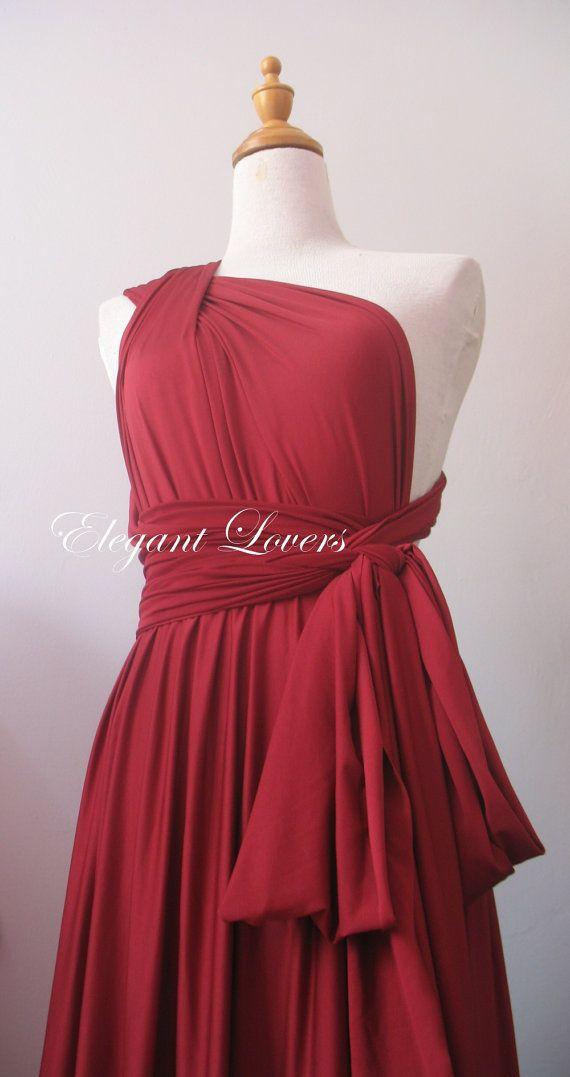 Color granate vestido de Dama de honor vestido por Elegantlovers, $79.90