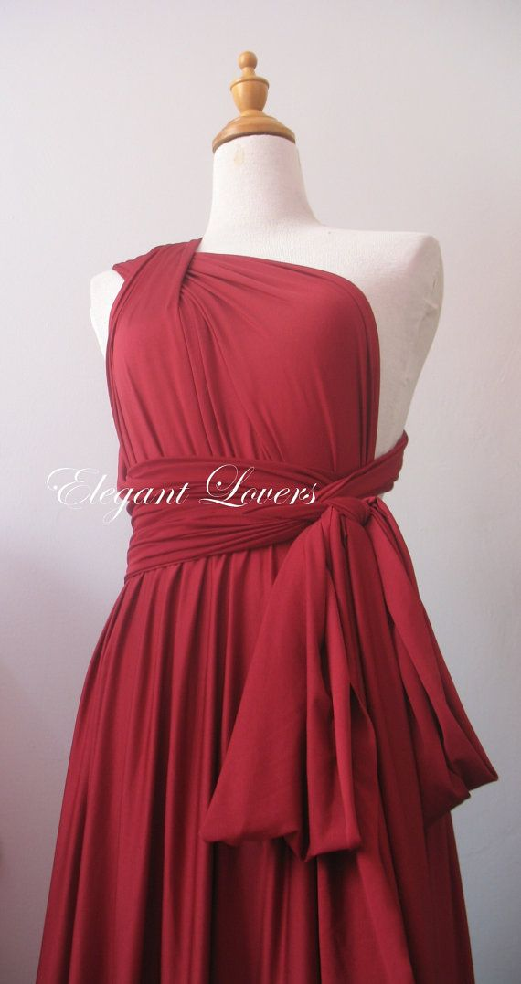 Color granate vestido de Dama de honor vestido por Elegantlovers, $79.90