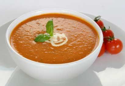 Soupe aux tomates grillées et au fenouil