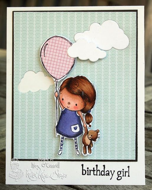 "Paper Perfect Designs by Kim O'Connell: Kraftin' Kimmie Stamps ""Birthday Girl"""
