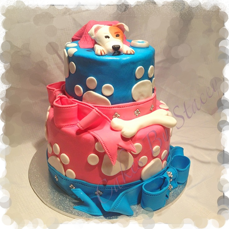 Dog themed birthday cake Cake Ideas Pinterest Themed ...
