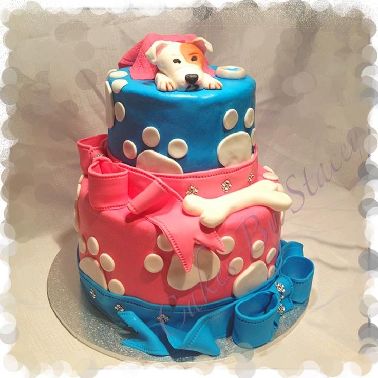 Dog Birthday Cake Decorating Ideas : Dog themed birthday cake Cake Ideas Pinterest Themed ...