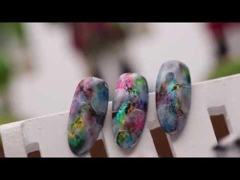 凝膠彩繪- 透明玻璃雲彩石彩繪 - YouTube