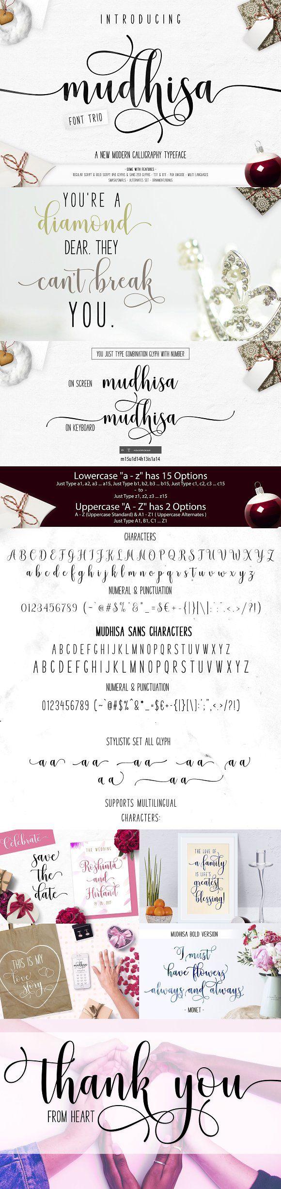 Mudhisa Script Font   20% OFF by Barland on @creativemarket