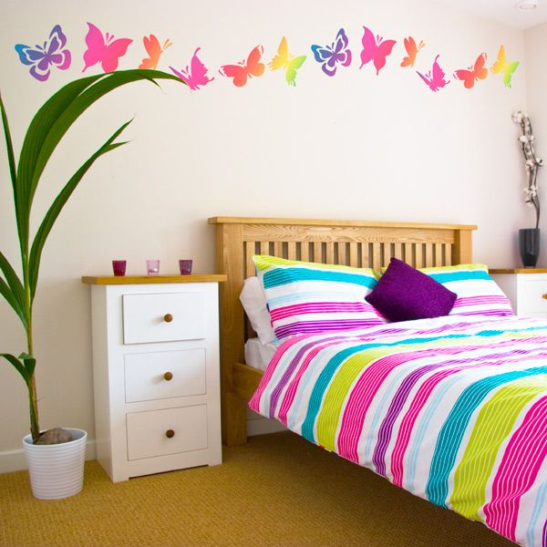 butterflies decoration to romanticize and feng shui homes bedroom wall