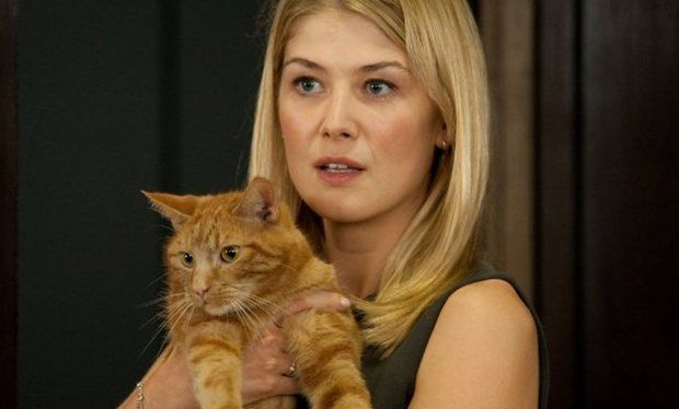 we need to talk about the 'Gone Girl' cat.  Spoiler Alert: Don't read until see movie!