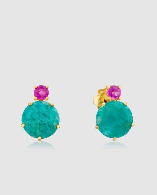 e4aa802fb557 Pendientes Tous Ivette de oro con gemas   Earrings   Joyas oro ...