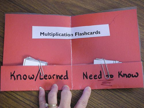 Memorizing multiplication facts - a way to organize facts kids know and the ones they still need to learn