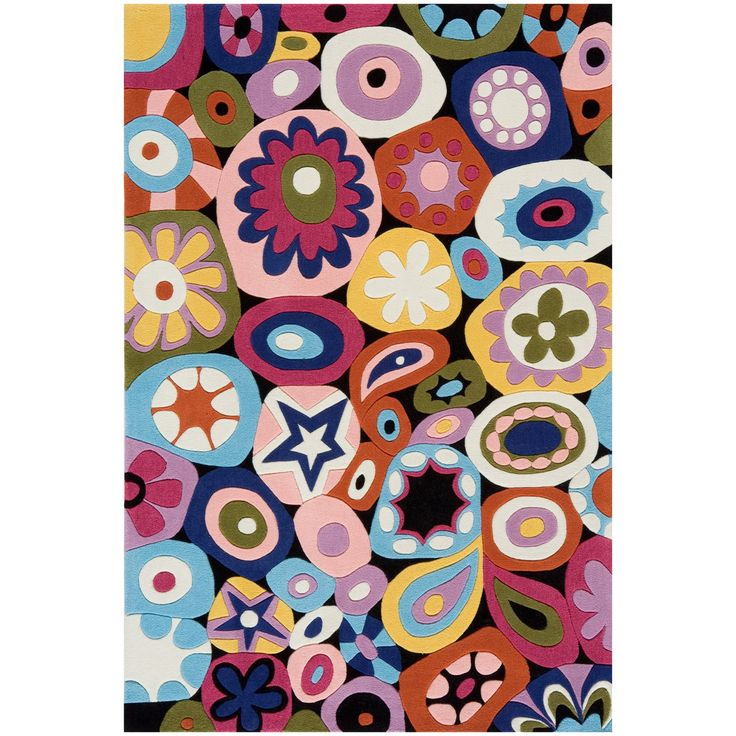 Lil' Momeni Hipster Floral Collection Kids Area Rug - LMOTWLMT-5MTI2030