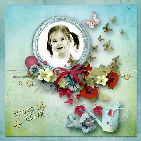 NEW *Summer Flower* by Collaboration Angelique's Scraps, Bee Création http://www.digiscrapbooking.ch/shop/index.php…