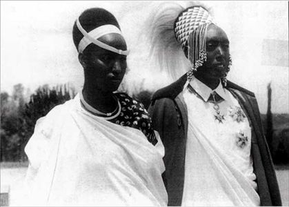 King Mutara Rudahigwa and Queen Gicanda Rwanda
