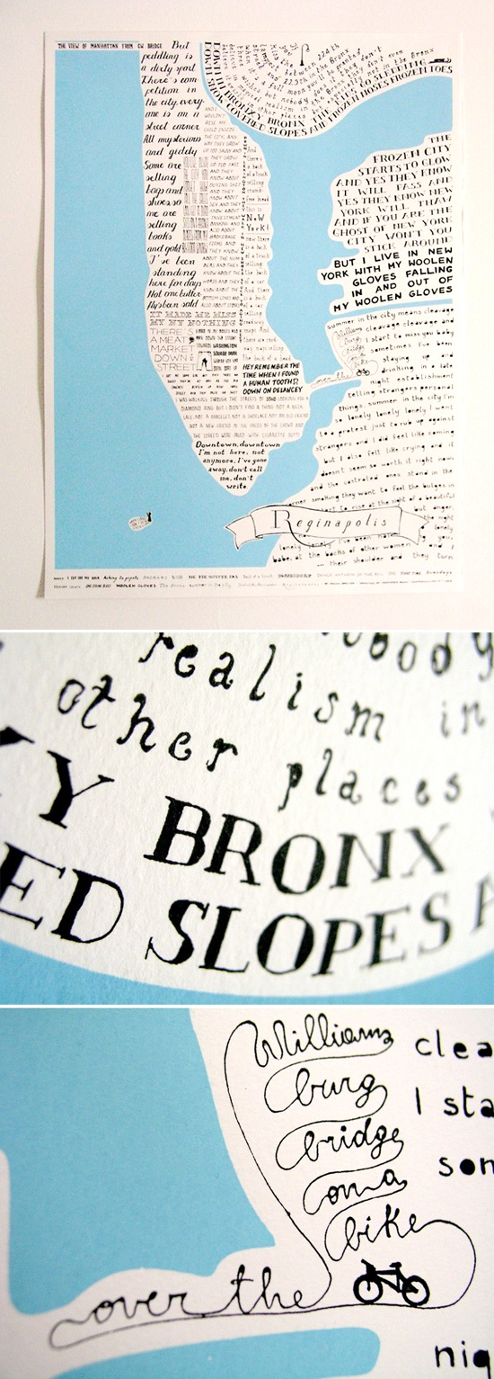 regina spektor, new york & typography combined in one print via designlovefest blog