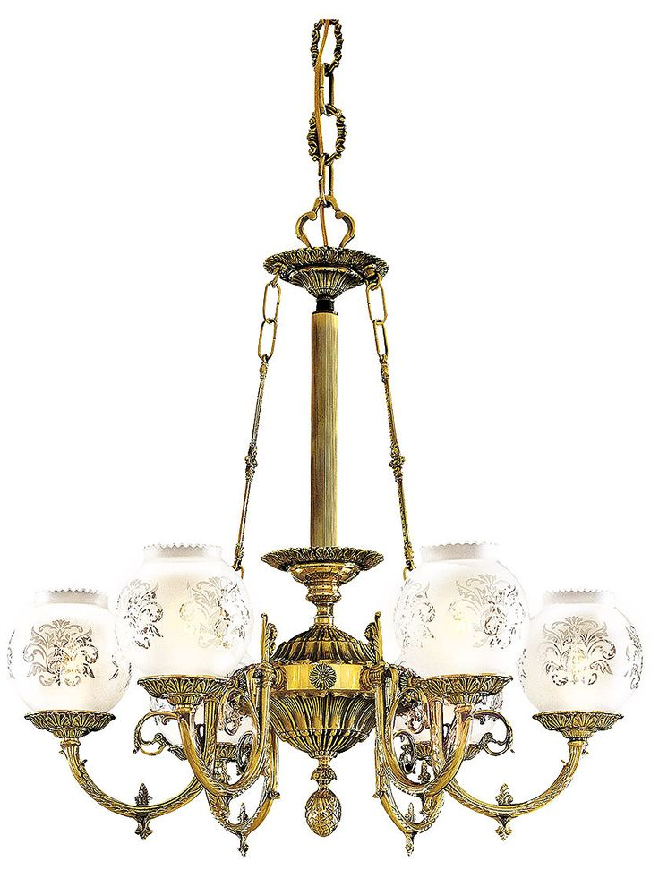 Vintage Lighting Fixtures English Victorian 6 Light