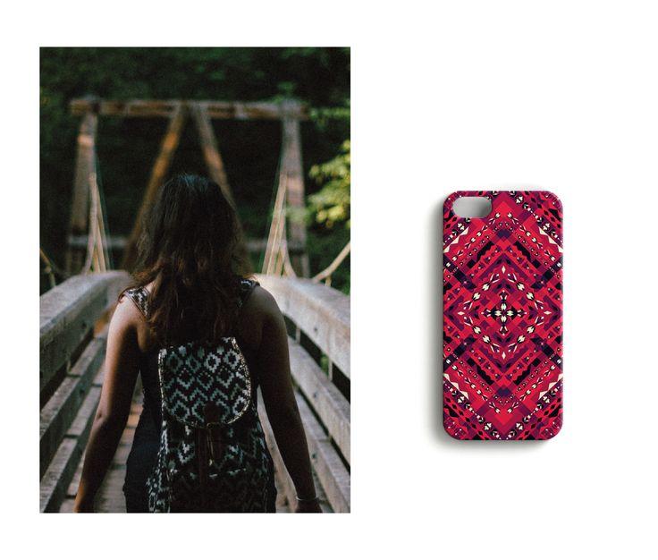 Where ever this takes me //Diamondstitch iPhone case designed by Katariina Karjalainen.