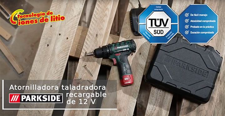 Taladro atornillador de percusión de Lidl de la marca PARKSIDE -  Taladro atornillador de excelente calidad a un precio único, podrás comprar esta herramienta de PARKSIDE exclusiva en Lidl por tan sólo 55€. Características  El diámetro de taladrado máx.: 30 mm en madera / 15 mm en ladrillo / 13 mm en acero. Giro reversible. Batería incluida. 2 velocidades. LED... #Productosdestacados, #ProductosLidl  #Parkside Ver en la web : https://ofertassupermercados.es/tala