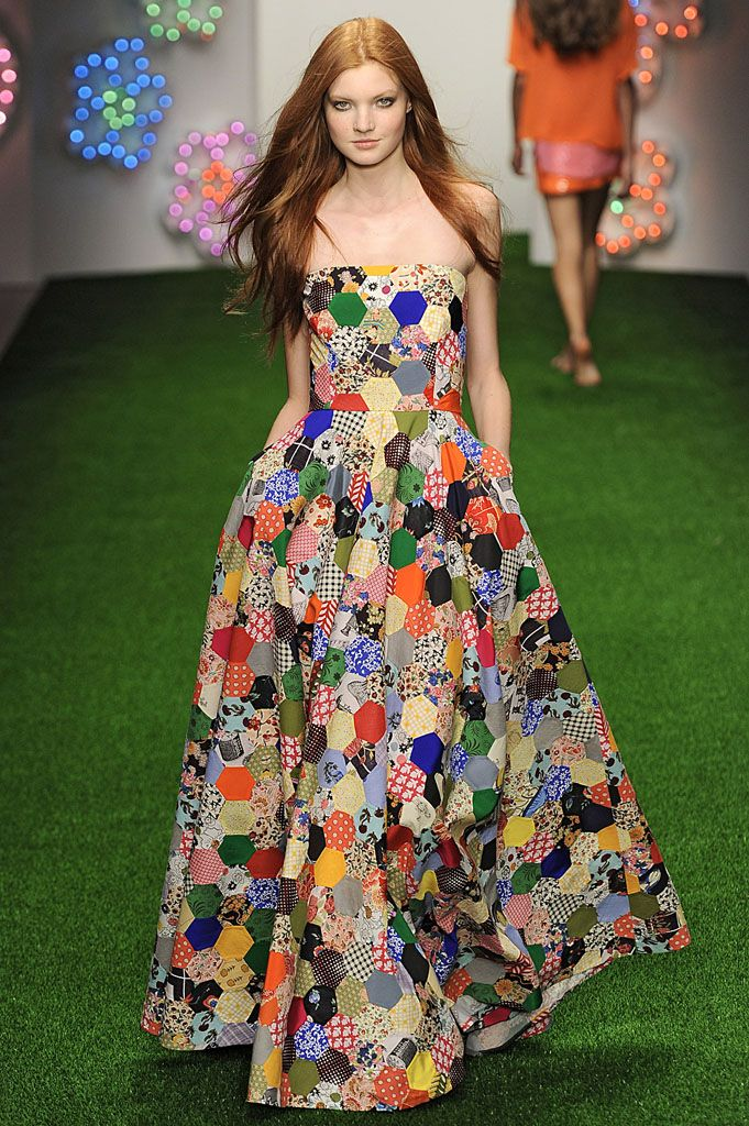 Jasper Conran SS13 - patchwork dress