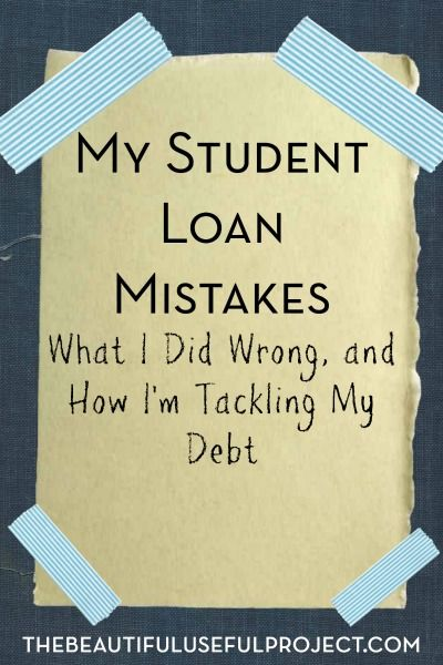 A big reason why I decided to start The Beautiful Useful Project was to make money by selling my stuff in order to pay off my student loan. While I don't regret going to graduate school, I do regret the way I've handled my student loan so far.  Here are some of the student loan …