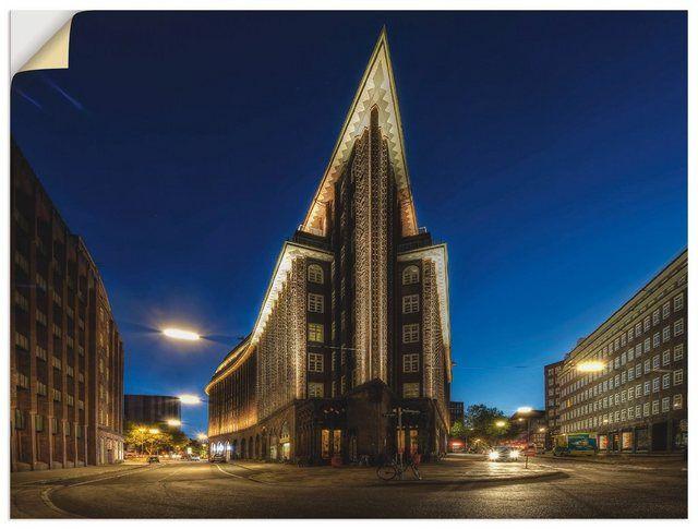 Wandfolie »Carina Buchspies: Hamburg – Chilehaus«