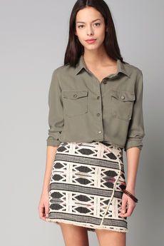Vero Moda - Jupe - Mini jupe ethnique Selma                                                                                                                                                                                 More