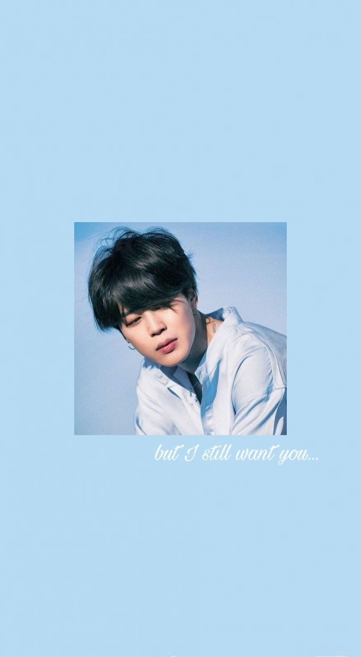 But I Still Want You Baby Blue Aesthetic Blue Aesthetic Pastel Jimin Wallpaper