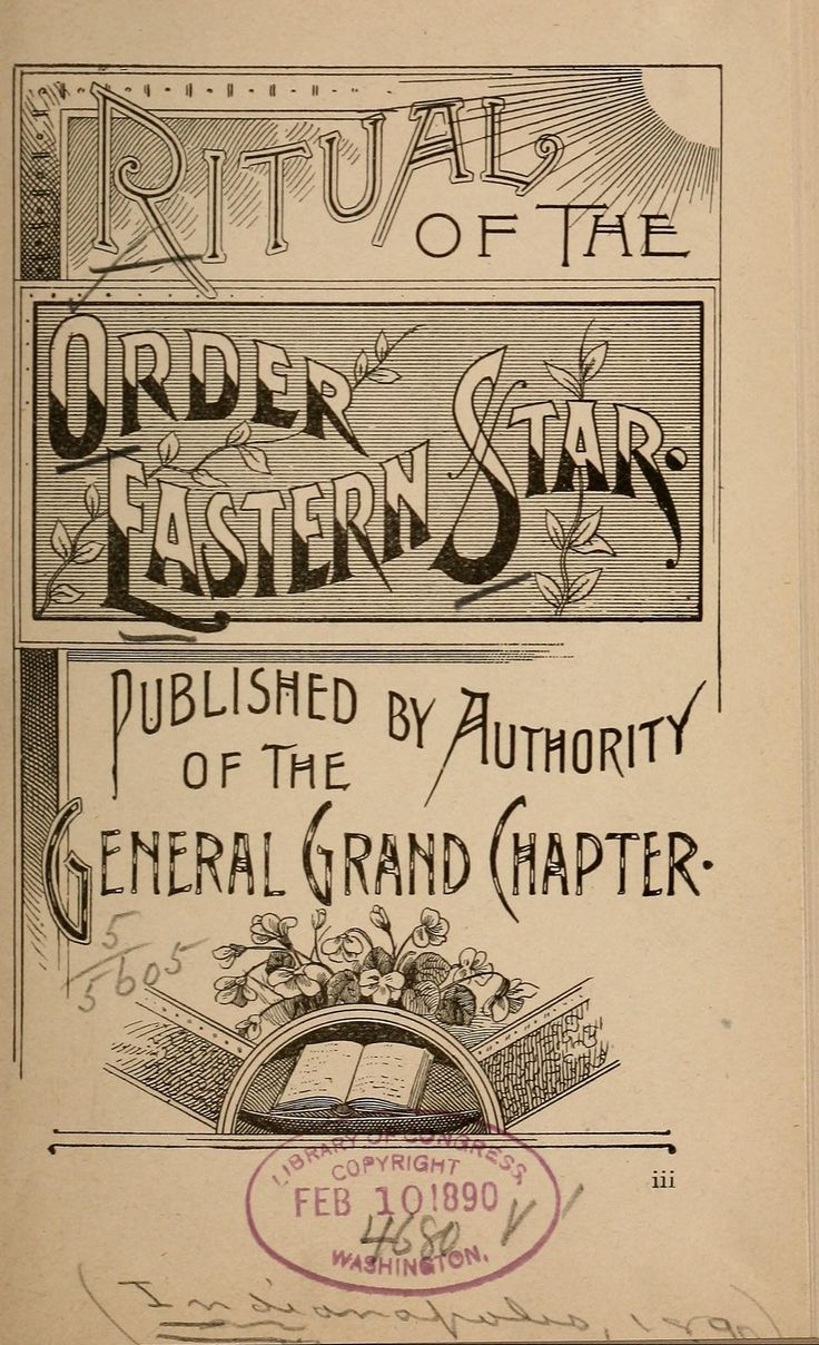 Ritual of the Order [of the] Eastern star