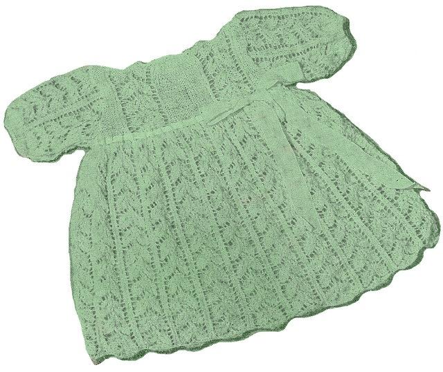 FREE baby dress knit pattern