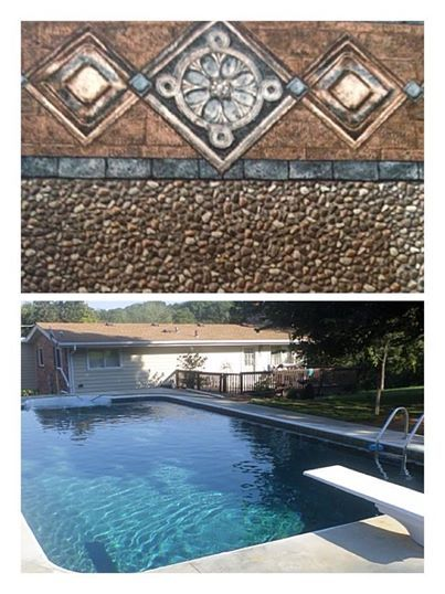 This Brown Patterned In Ground Pool Liner Gives Your Pool