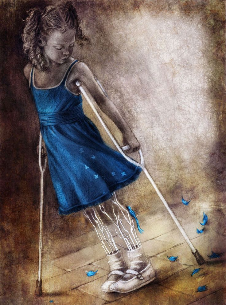Osteogenesis Imperfecta.......painting by Beatriz Martin Vidal