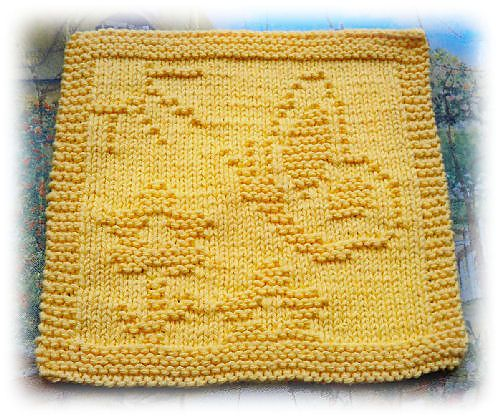 Butterfly pattern by Alli Barrett | Dishcloth knitting ...