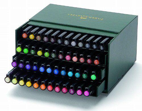 Faber-Castell 167148 - Tuschestift PITT artist pen -brush-, 48er Atelierbox: Amazon.de: Bürobedarf & Schreibwaren