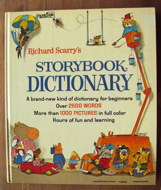 Richard Scarry's Storybook Dictionary (1966) - A Golden Book - Vintage Childrens Book: