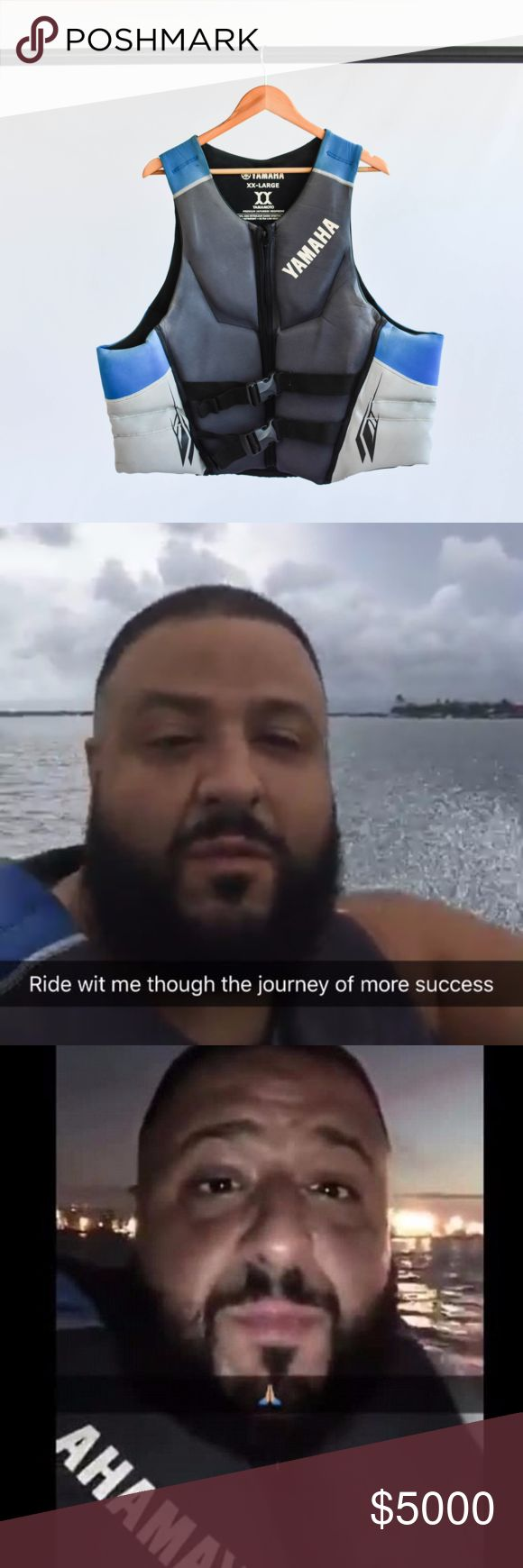 Yamaha Life Vest as Seen on Snapchat Iconic Yamaha life vest worn by DJ Khaled in his infamous Snapchat story when he got lost at sea on a jet ski! Shows signs of wear. Yamaha Other