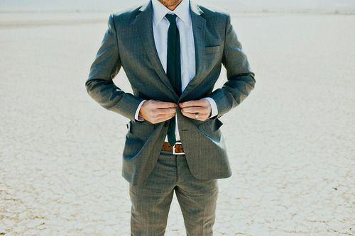 Suit + Belt + Tie