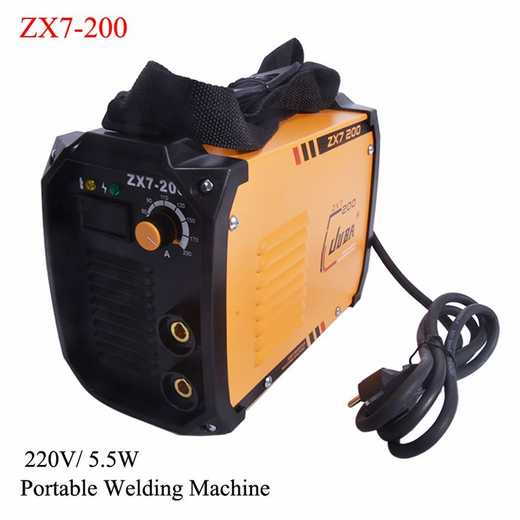 New portable  welder IGBT inverter portable welding machine  arc welder ZX7-200 with electrode holder and earth clamp #Affiliate