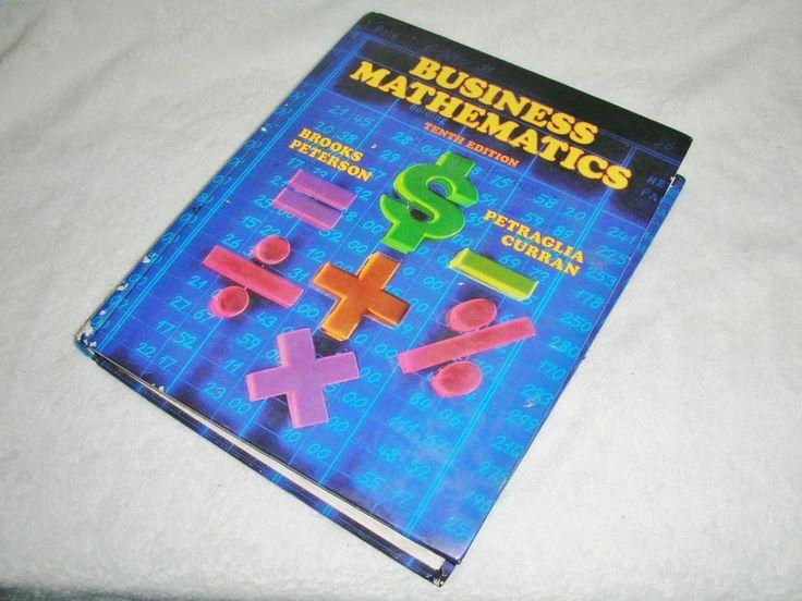 Business Mathematics 10th Edition Hard Cover 1991 Book School Math Vtg #Textbook