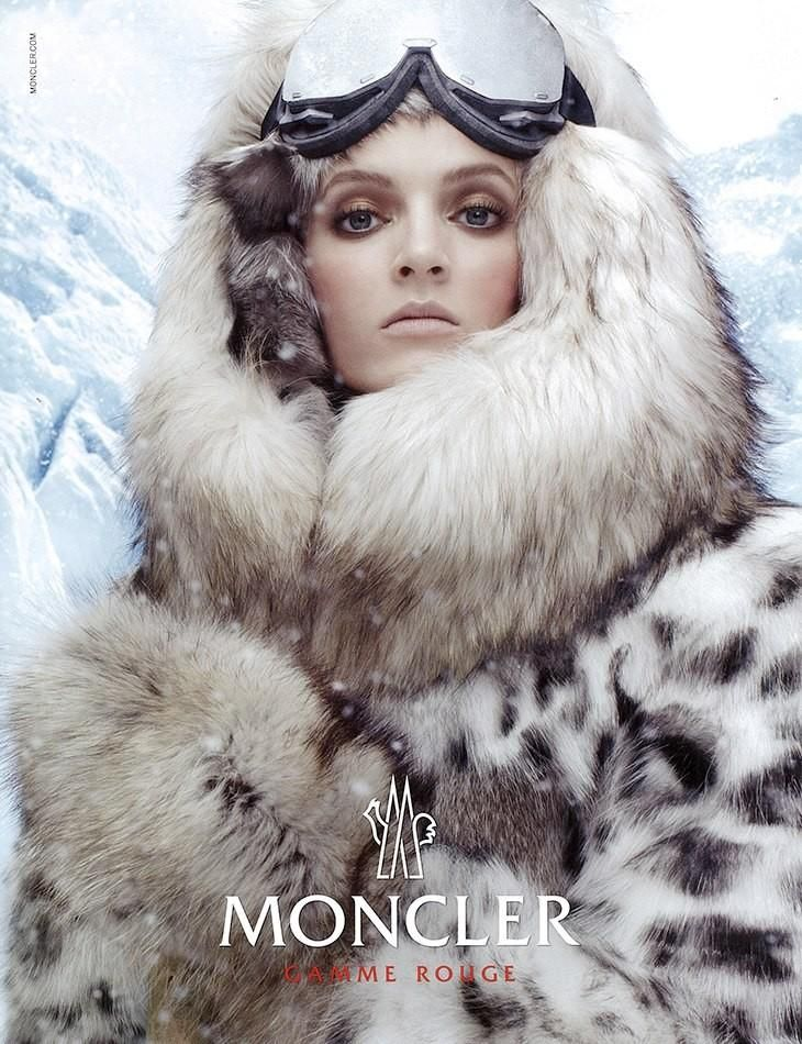 Daria Strokous by Steven Meisel for Moncler Gamme Rouge Autumn/Winter 2013.
