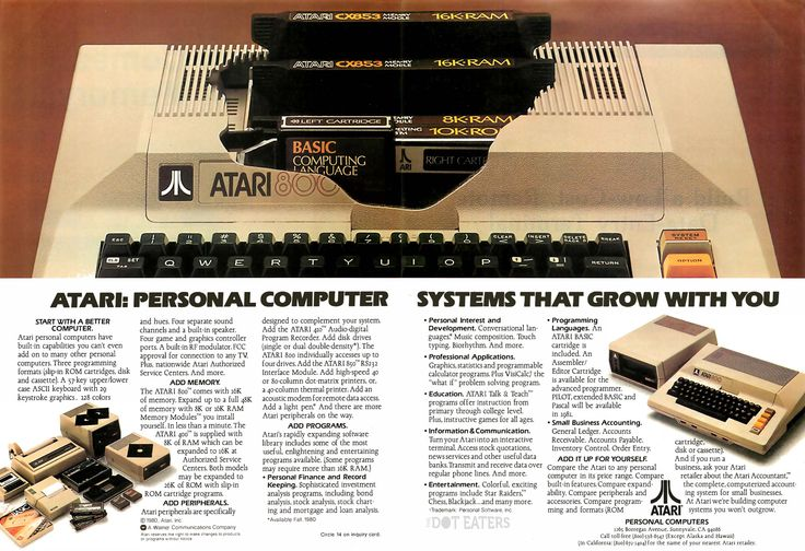 The lid actually flips up, if you want an easier way to install them (1980). #Atari #bitstory