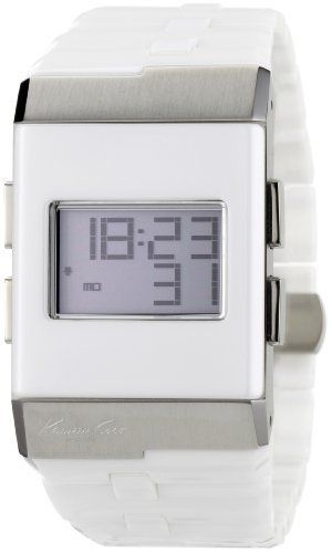 Kenneth Cole New York Men's KC3999 Digi-Tech Digital Roller-Ball White Ceramic Bracelet Watch Kenneth Cole. $69.95. Water-resistant to 165 feet (50 M). Japanese digital movement with day, date and year functions. Dependable Japanese Digital-Quartz movement. Solid stainless steel bracelet. Solid stainless steel rectangle case with ceramic bezel. Save 64%!