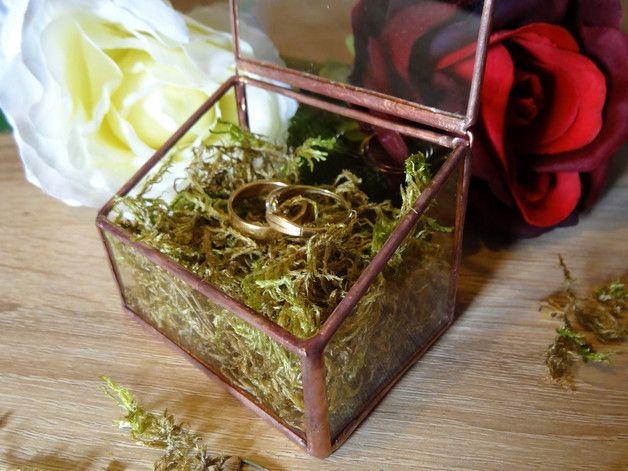 Wyjątkowa szkatułka na obrączki - GlassWoodMe - Poduszeczki na obrączki