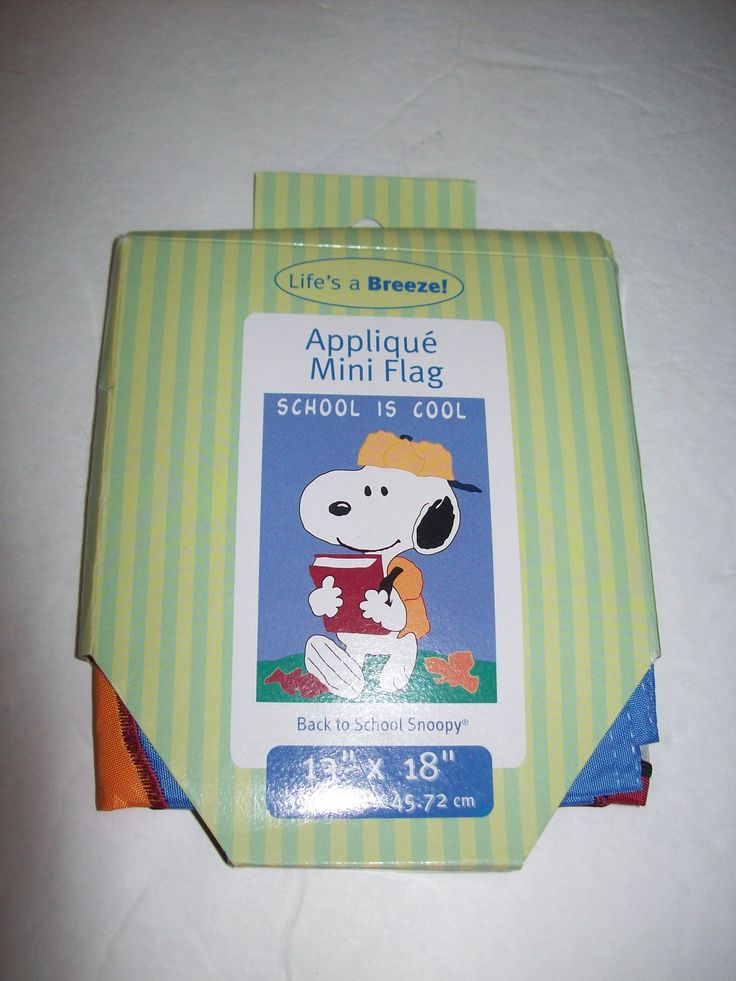 Snoopy School is Cool Flag 13 x 18 - We Got Character