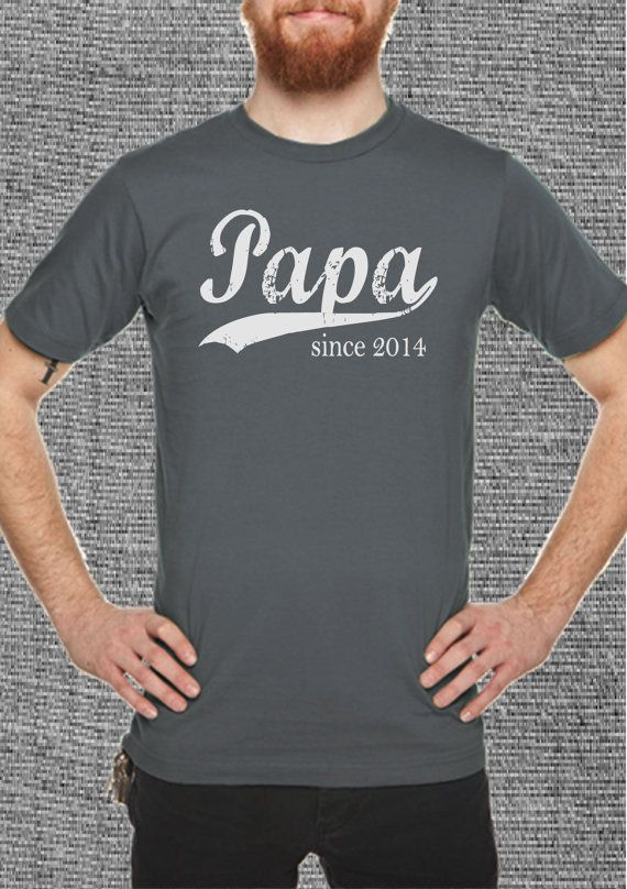 men's christmas gift idea  papa since any year  by BRANDED on Etsy, $20