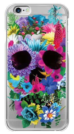 ヴィヴィッドカラーが目を引く上品かつエレガントなデザイン。 ちょっぴりハードな印象のスカルをあえて直接表現せず、爽やかな花柄とのギャップを楽しめる遊び心を効かせたハイセンスなケース
